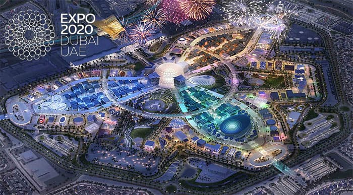 Dubai Expo 2020 night