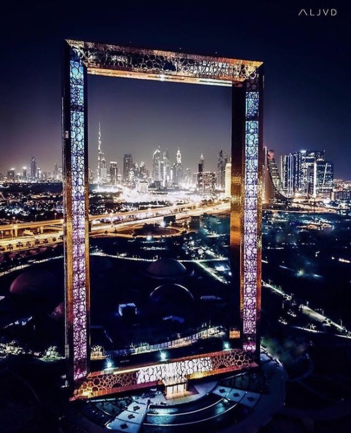 Dubai Frame Night